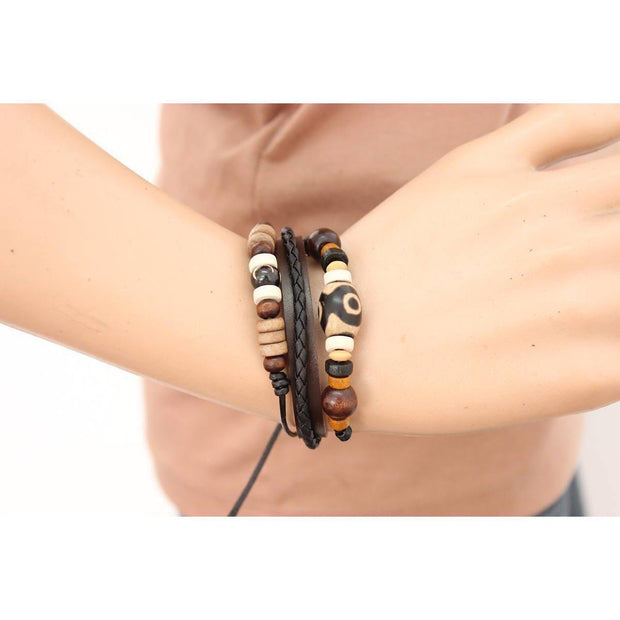 Leather Unisex Cuff Bracelet - Thailand-Jewelry-Lumily Fair Trade