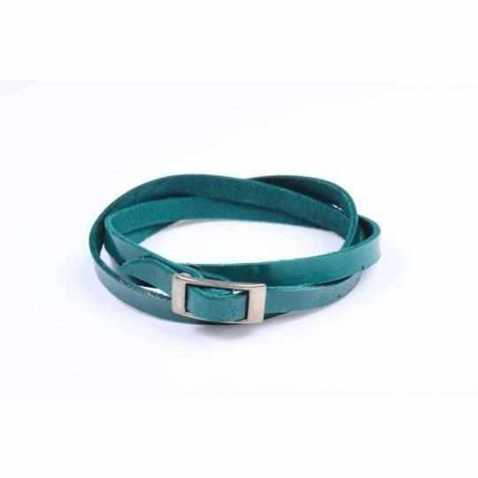 Leather Wrap with Silver Buckle - Thailand-Shop All-Lumily Fair Trade