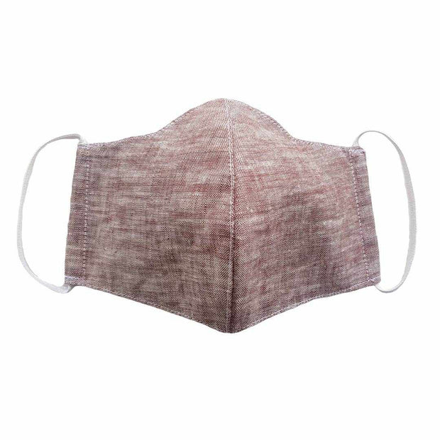 Linen Unisex Face Mask with Filter Pocket - Thailand-Apparel-Lumily