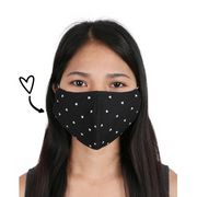 adult reusable washable fair trade handmade face mask face cover hearts