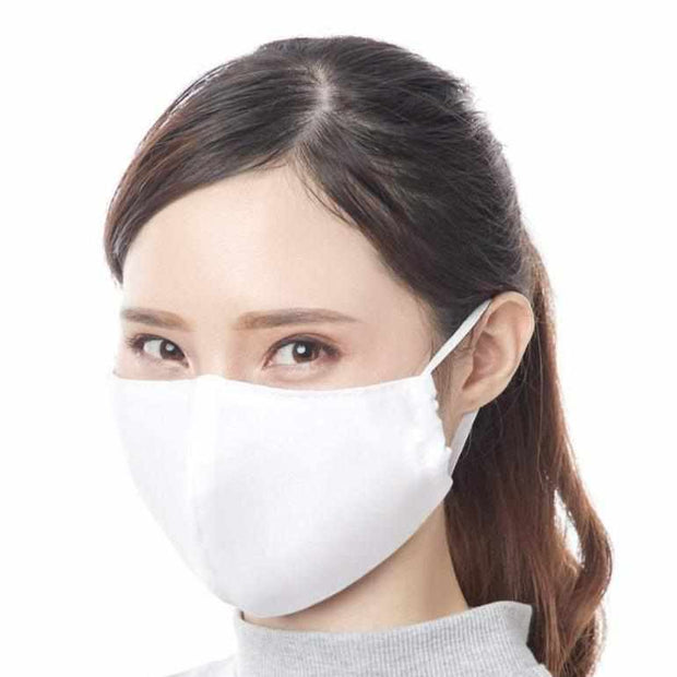 adult reusable washable fair trade handmade face mask face cover in white