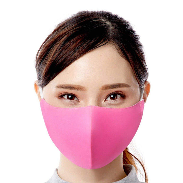 hot pink adult resuable washable fair trade handmade face mask face cover