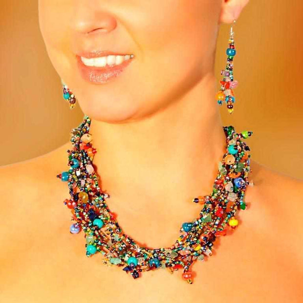 Luzy Necklace with Magnetic Closure - Guatemala-Shop All-Lumily Fair Trade