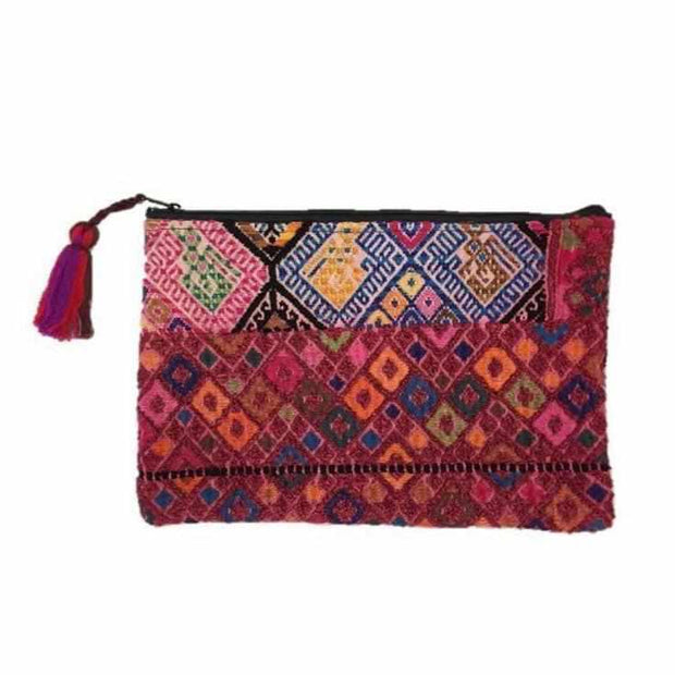 Maya Up-cycled Huipil Cosmetic Bag - Guatemala-Shop All-Lumily