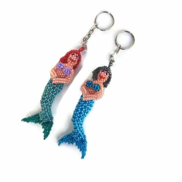 Mermaid Key Chain - Guatemala-Shop All-Lumily Fair Trade
