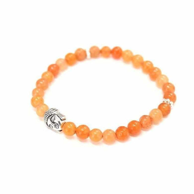 Chakra buddha multicolor elastic round bead bracelet lumily yoga jewelry