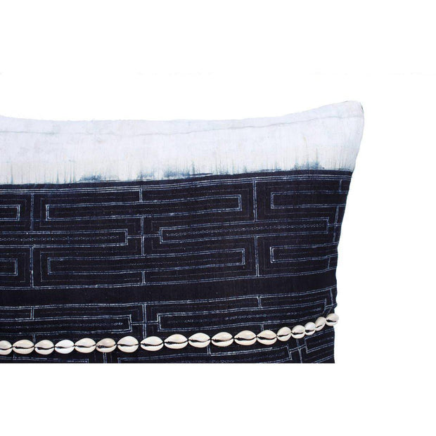 Del Mar Indigo Batik Pillow Cover - Thailand-Shop All-Lumily Fair Trade