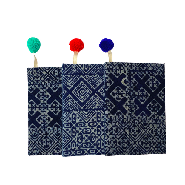 Oasis Indigo Batik Lined Notebook - Thailand-Lumily