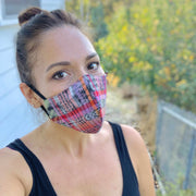 One-of-a-Kind Repurposed Corte Face Mask with Filter Pocket - Guatemala-Apparel-Lumily