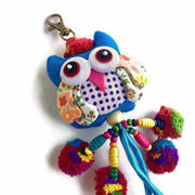 Owl w/ Pom Pom Bag Charm / Zipper Pull - Thailand-Shop All-Lumily Fair Trade