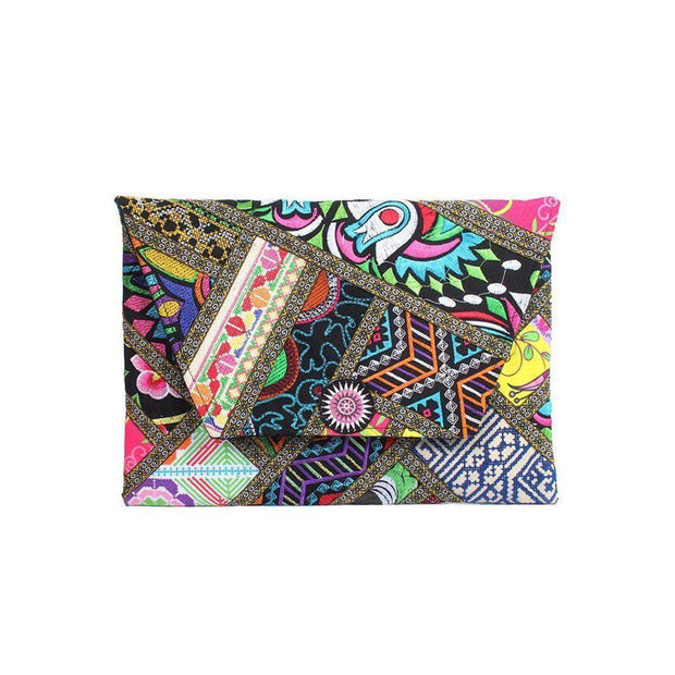 Patchwork Clutch / iPad Bag - Thailand-Bags-Lumily Fair Trade