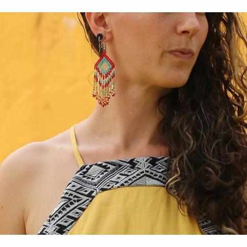 Paula Seed Bead Earrings - Guatemala-Shop All-Lumily