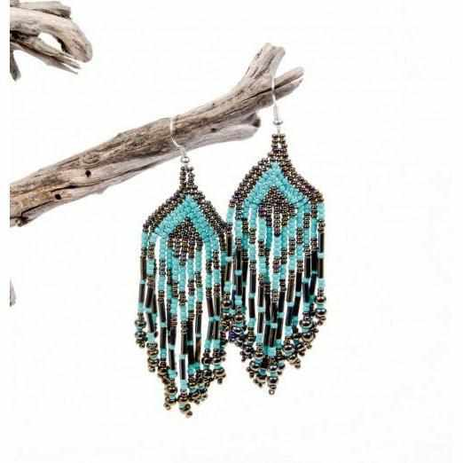 Paula Seed Bead Earrings - Guatemala-Shop All-Lumily Fair Trade