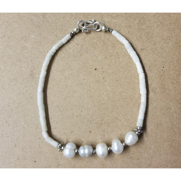 Pearl and Stone Bracelet - Guatemala-Shop All-Lumily Fair Trade
