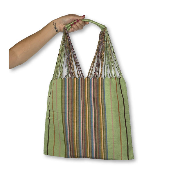 Poppy Woven Striped Tote - Mexico-Shop All-Lumily Fair Trade
