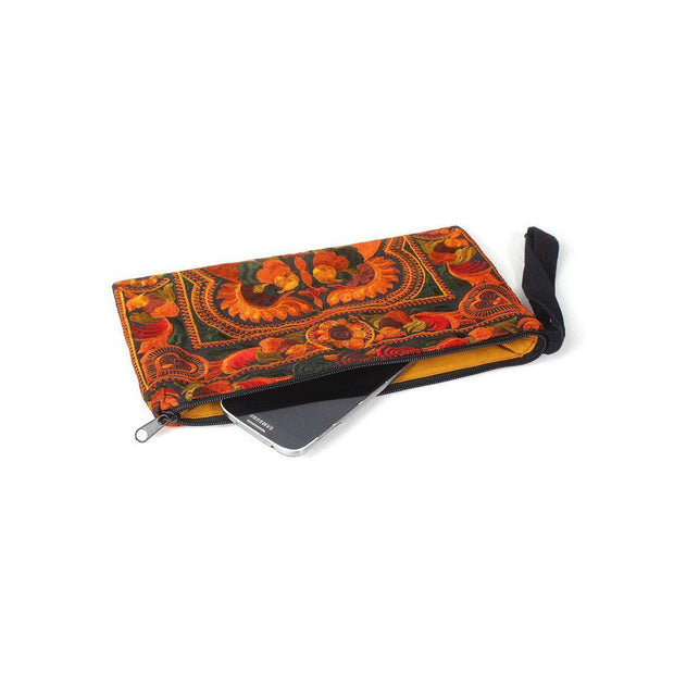 Prani Embroidered Clutch - Thailand-Shop All-Lumily Fair Trade