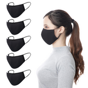 Pre-Packs: Black Reusable Face Mask with Filter Pocket - Thailand-Apparel-Lumily Fair Trade