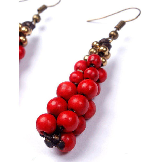 Raindrop Stones Earrings - Thailand-Jewelry-Lumily Fair Trade