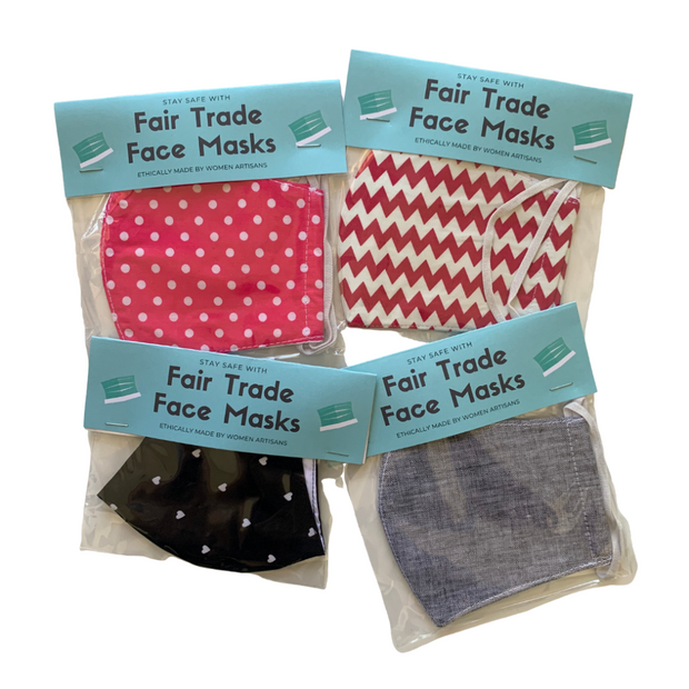 Reusable Face Mask with Iron On Sticker & Filter Pocket - Thailand-Apparel-Lumily Fair Trade