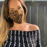 Reversible Jungle Pleated Face Mask - Thailand-Apparel-Lumily