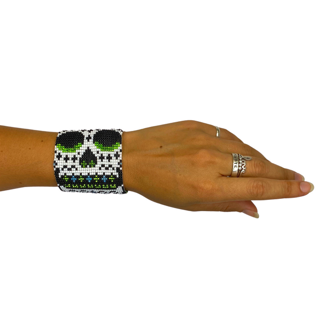 Sugar Skull Bracelet with Magnetic Clasp - Guatemala-Shop All-Lumily