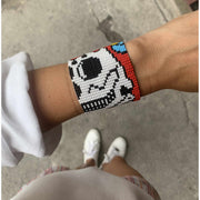 Sugar Skull Bracelet with Magnetic Clasp - Guatemala-Shop All-Lumily Fair Trade