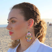 Sugar Skull Seed Bead Earrings - Guatemala-Shop All-Lumily