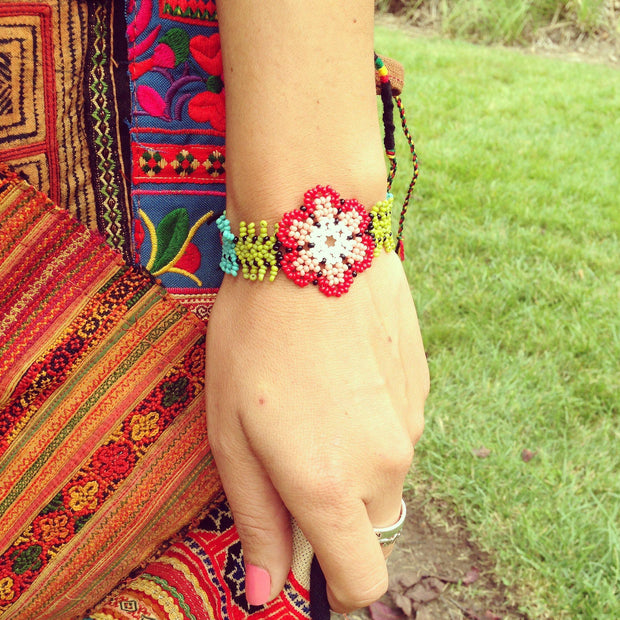 Sundance Floral Bracelet - Guatemala-Shop All-Lumily Fair Trade