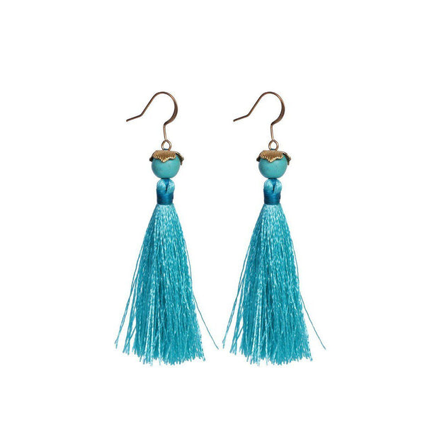 Sunlight Tassel Earrings - Thailand-Jewelry-Lumily Fair Trade