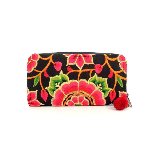 Sunrise Embroidered Wallet - Thailand-Bags-Lumily Fair Trade