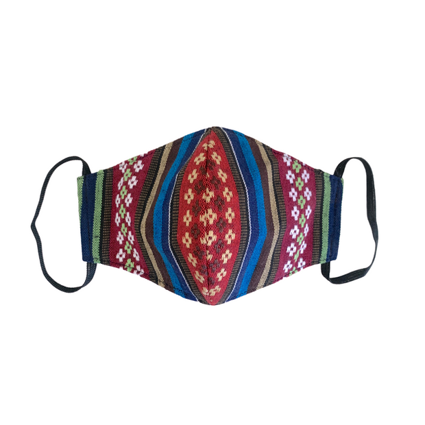 PRE-ORDER: Sustainable Multicolor Face Mask with Filter Pocket - Guatemala-Apparel-Lumily