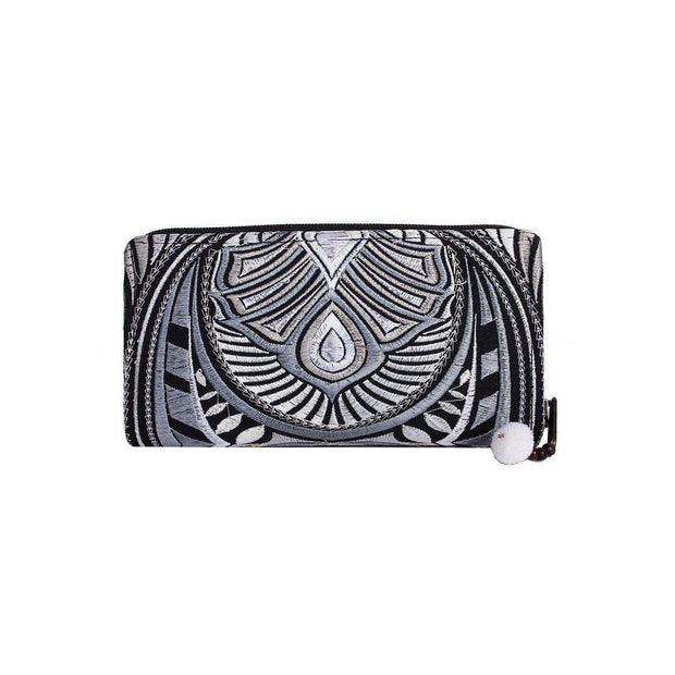 Tahj Embroidered Wallet - Thailand-Bags-Lumily Fair Trade