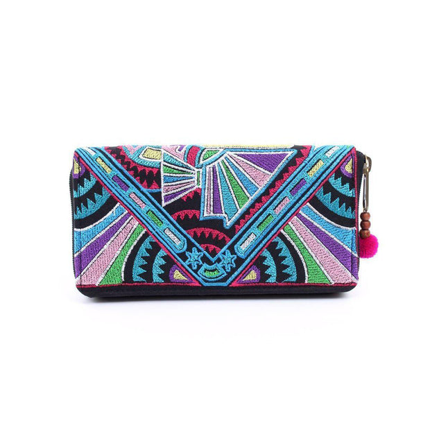 Tahj Embroidered Wallet - Thailand-Shop All-Lumily Fair Trade
