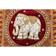 Thai Elephant Embroidered Pillow Cover - Thailand-Shop All-Lumily Fair Trade