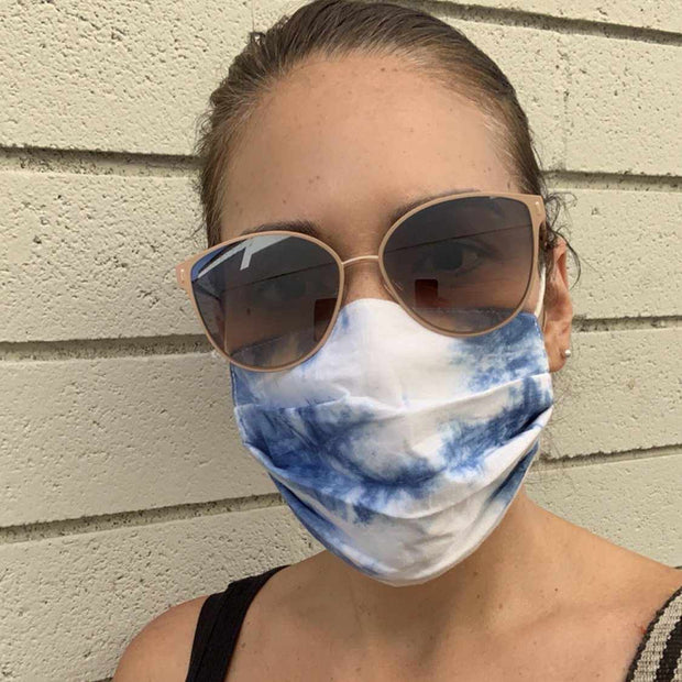 Tie Dye Pleated Face Mask with Filter Pocket - Thailand-Apparel-Lumily