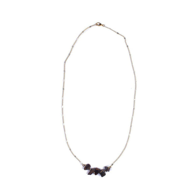 Stone And Chain Necklace - Thailand-Jewelry-Lumily Fair Trade