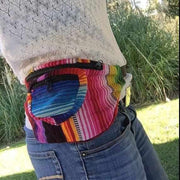 multicolor guatemala striped unisex fanny pack hip pack
