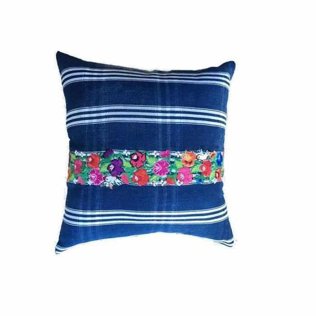 Up-cycled Denim Pillow Cover - Guatemala-Shop All-Lumily Fair Trade