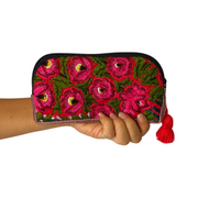 Up-cycled Half Moon Huipil Cosmetic Bag - Guatemala-Shop All-Lumily