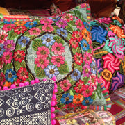 Up-cycled Maya Floral Pillow Cover - Guatemala-Shop All-Lumily Fair Trade
