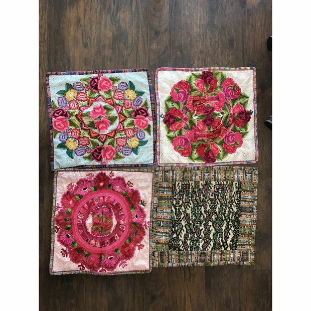 Up-cycled Maya Floral Pillow Cover - Guatemala-Shop All-Lumily