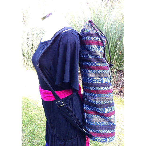 Upcycled Embroidered Yoga Bag - Guatemala-Shop All-Lumily Fair Trade