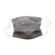 striped black and white facemask expandable fair trade