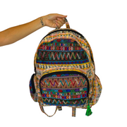 Volcano Huipil Upcycled Backpack - Guatemala-Shop All-Lumily