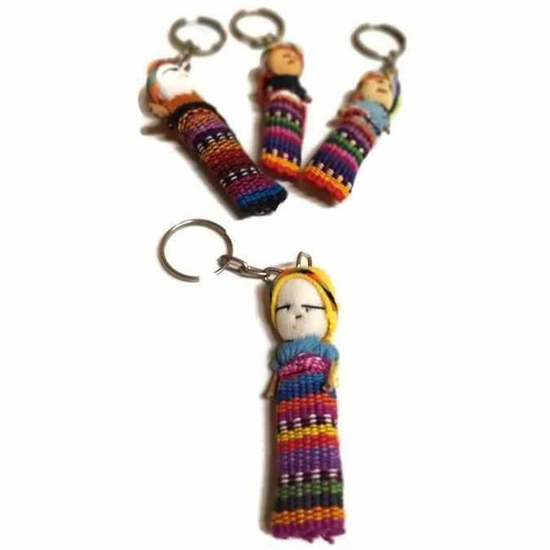 Worry Doll Key Chain - Guatemala-Shop All-Lumily Fair Trade
