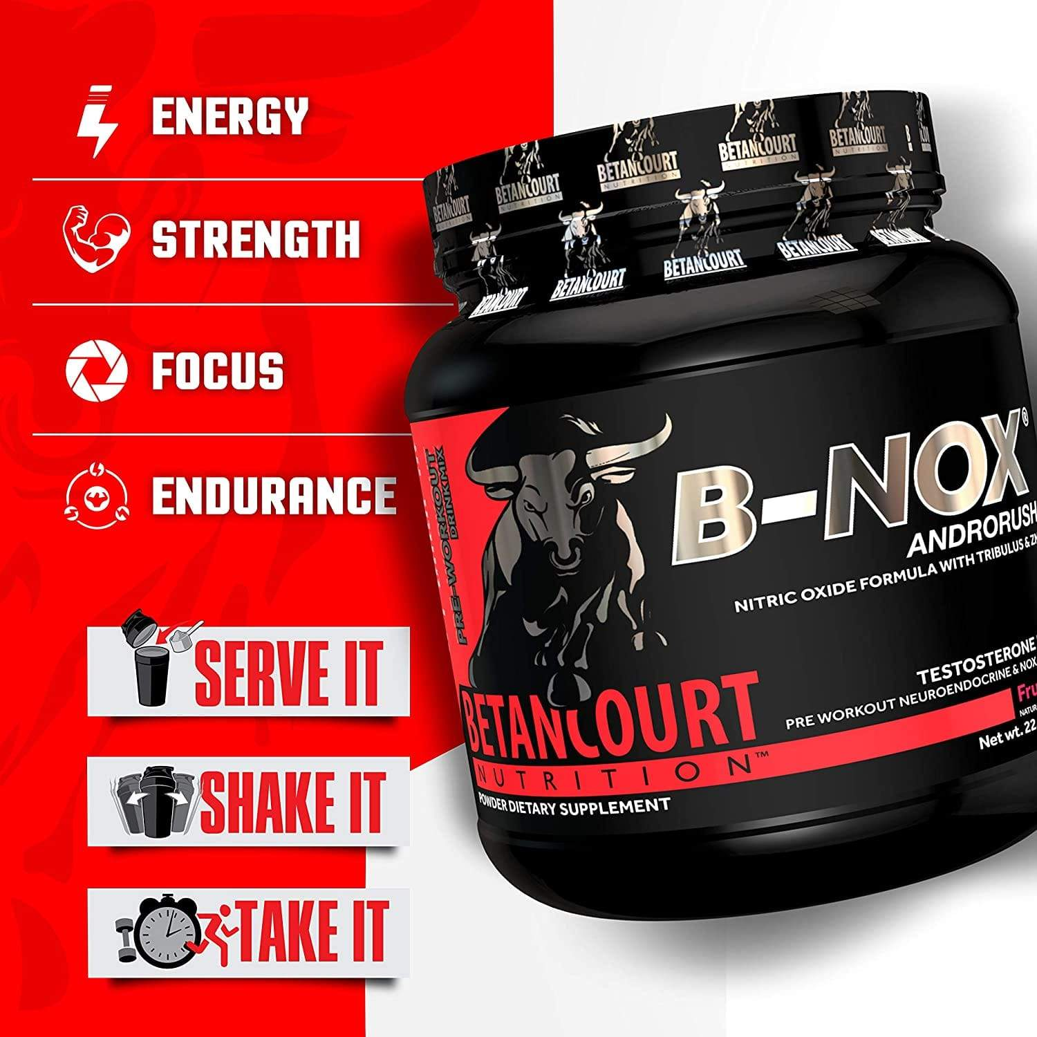 B-NOX ANDRORUSH - 35 SERVINGS - NutraCore Manalapan - Vitamin & Supplement and CBD Store