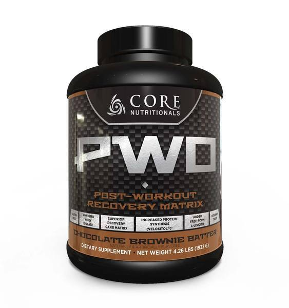 Core Nutritionals : PWO Chocolate Brownie Batter 4lb