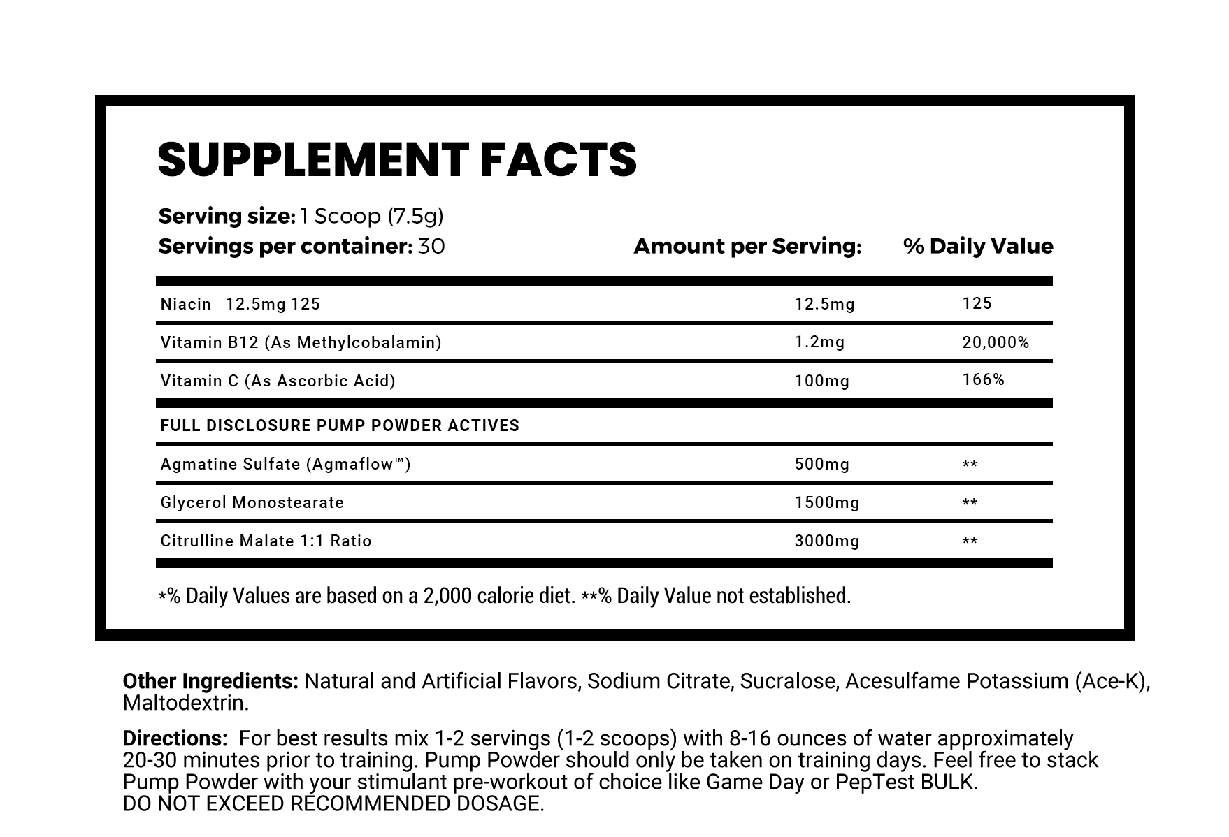 Pump Powder - NutraCore Manalapan - Vitamin & Supplement and CBD Store