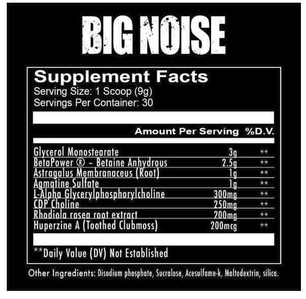 REDCON1 BIG NOISE PRE-WORKOUT - NutraCore Manalapan - Vitamin & Supplement and CBD Store