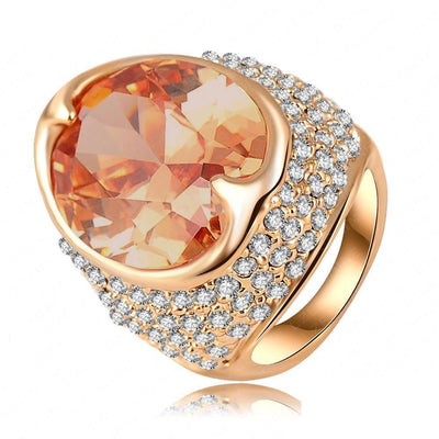 Sundrop Cocktail Ring - A stunning, huge citrine statement ring.